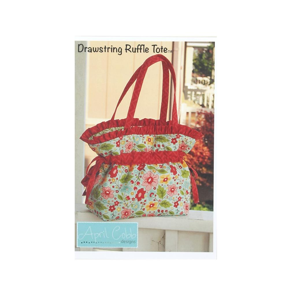 April Cobb Designs Drawstring Ruffle Tote Pattern