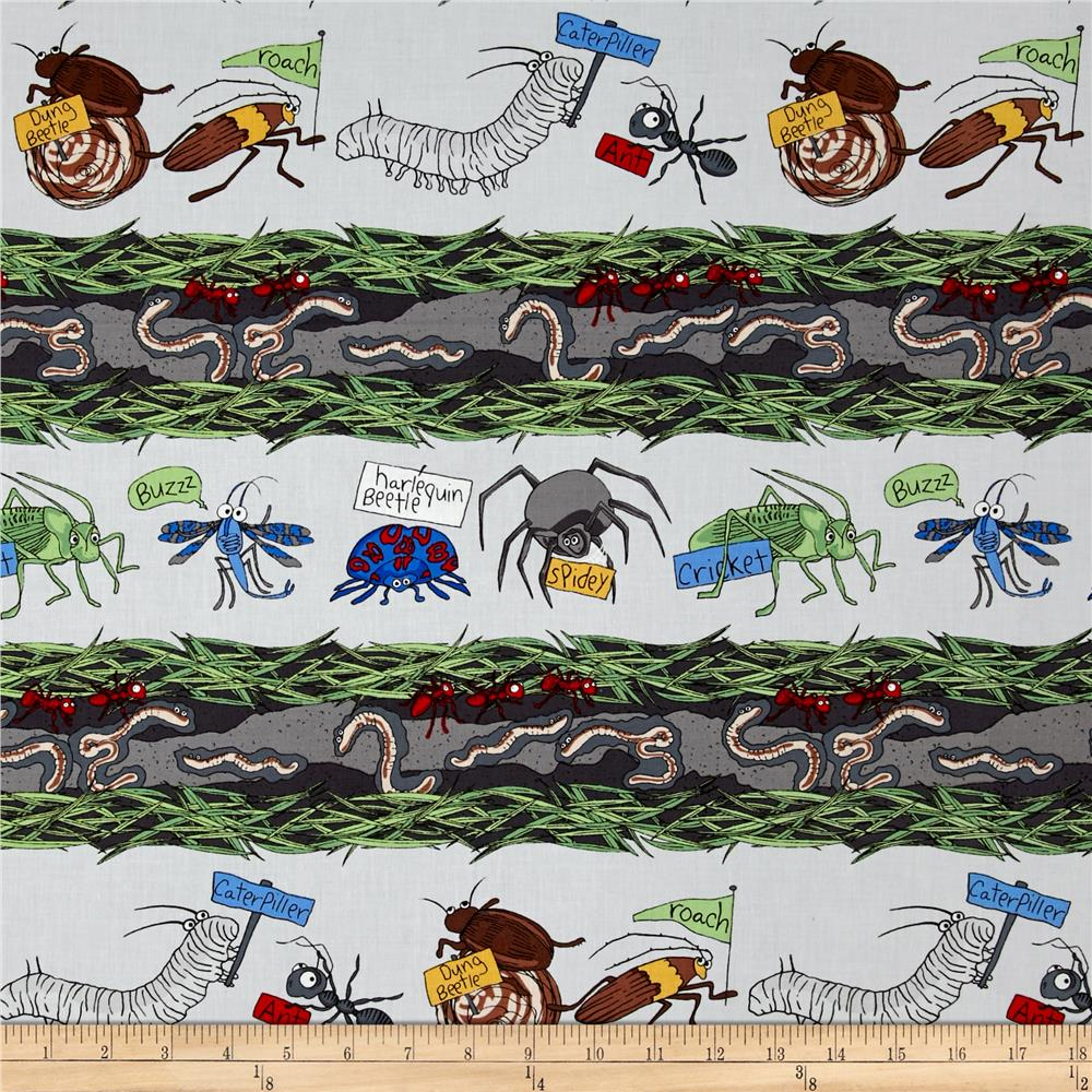 Kanvas Crawly Critters Critter Stripe Gray