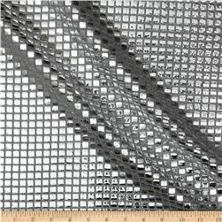 Sequin Check Mesh Silver