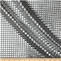 Sequin Check Fabric Silver