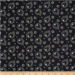 Joyful Large Paisley Black