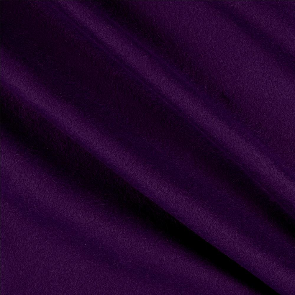 Polar Fleece Solid Purple Fabric