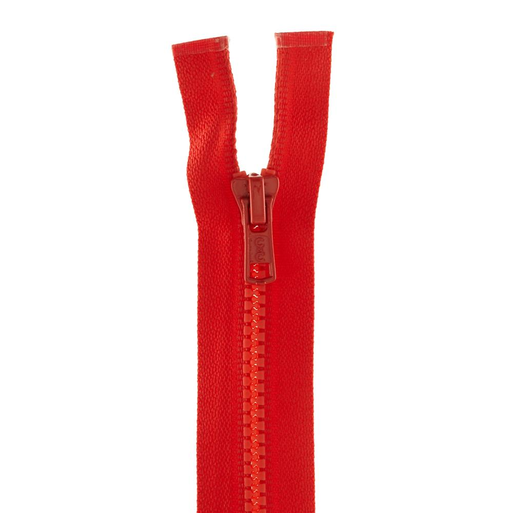 "Coats & Clark Medium Weight Molded Separating Zipper 22"" Atom Red"