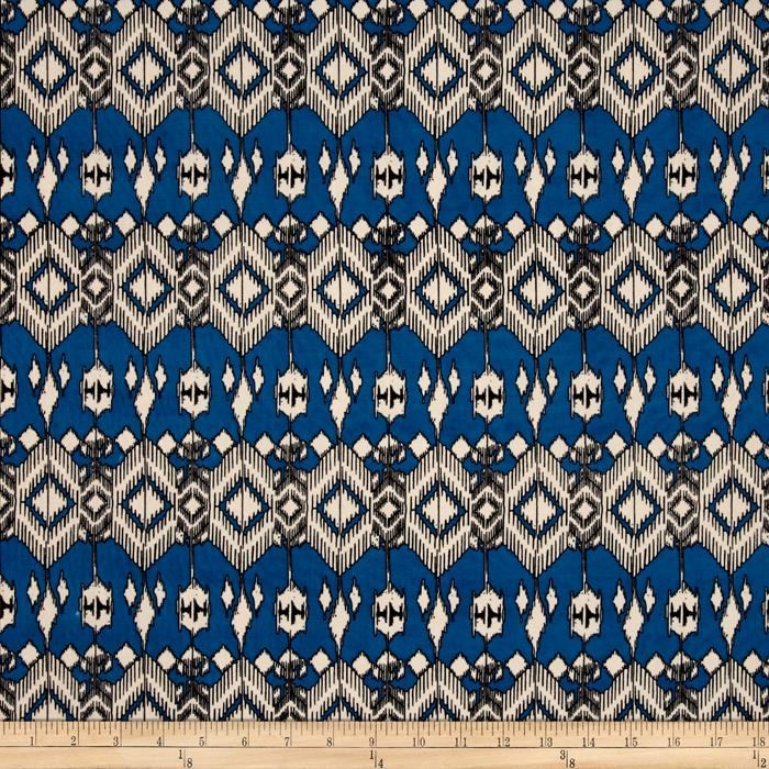 Stretch ITY Knit Aztec Line Blue
