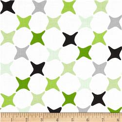 Poppy Modern Star Diagonal Black/Green