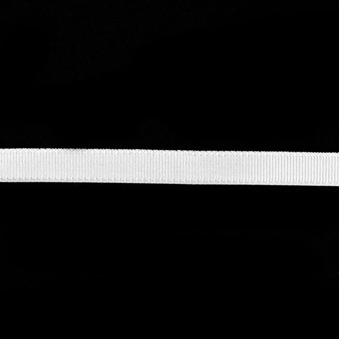 "3/8"" Grosgrain Ribbon White"