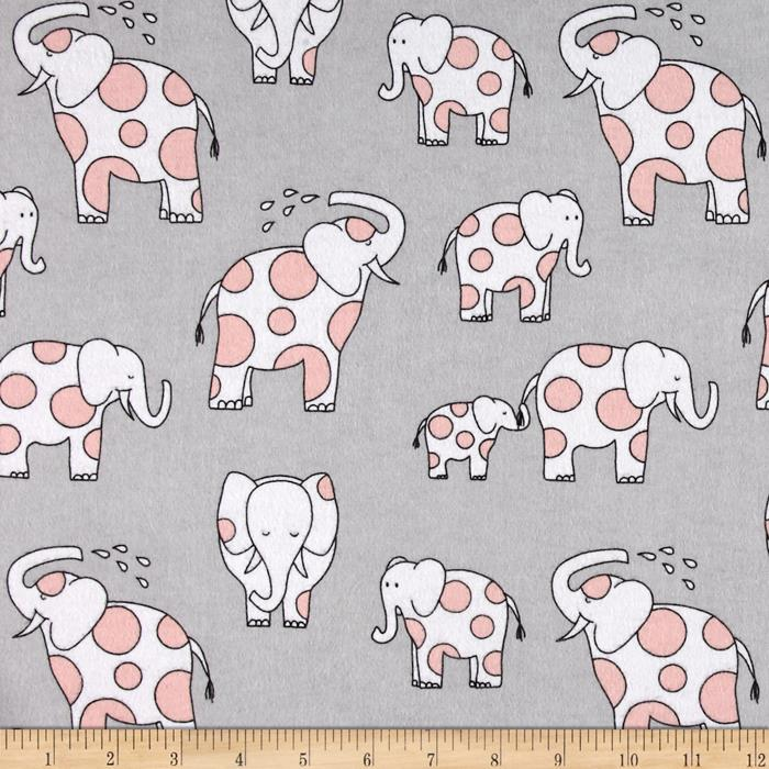 Michael Miller Baby Zoo Flannel Endearing Elephants Cloud