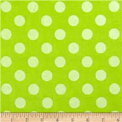 Riley Blake Hollywood Sparkle Medium Dot Lime