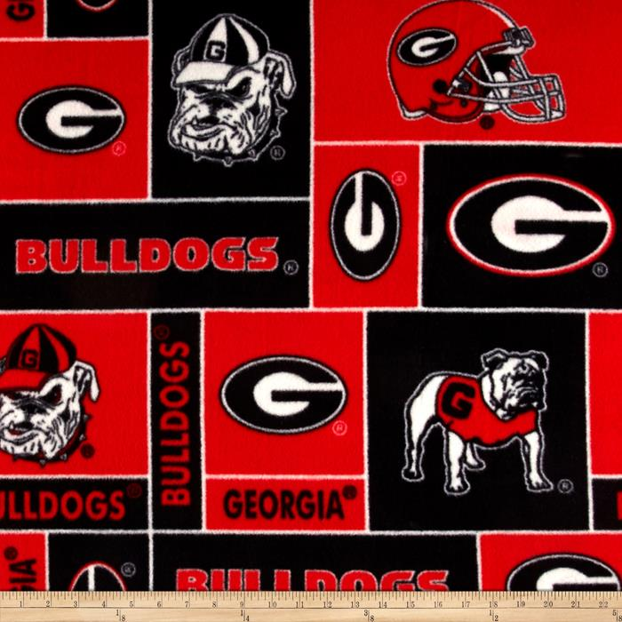 Collegiate Fleece University of Georgia Fabric By The Yard