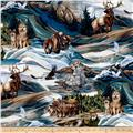Kaufman North American Wildlife 4 Animal Collage Earth