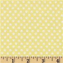 Here Kitty Kitty Organic Mini Paw Prints Yellow