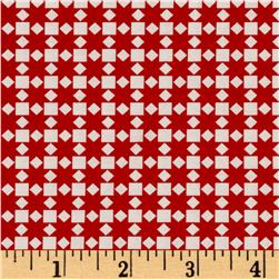 Moda Handmade Star Quilt Red