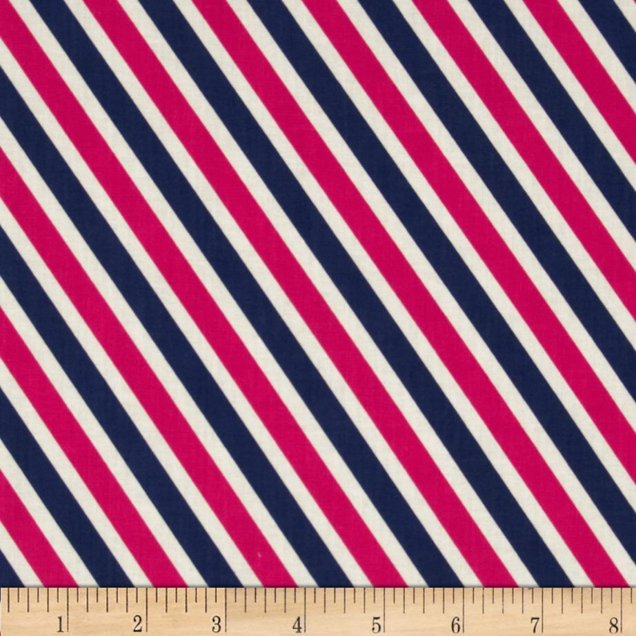 In the Navy Rugby Stripe Pink/Navy