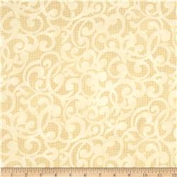 Filigree 108'' Wide Quilt Backing Tan