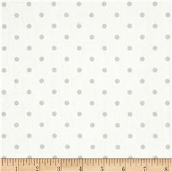 Premier Prints Mini Dots Twill White/French Grey