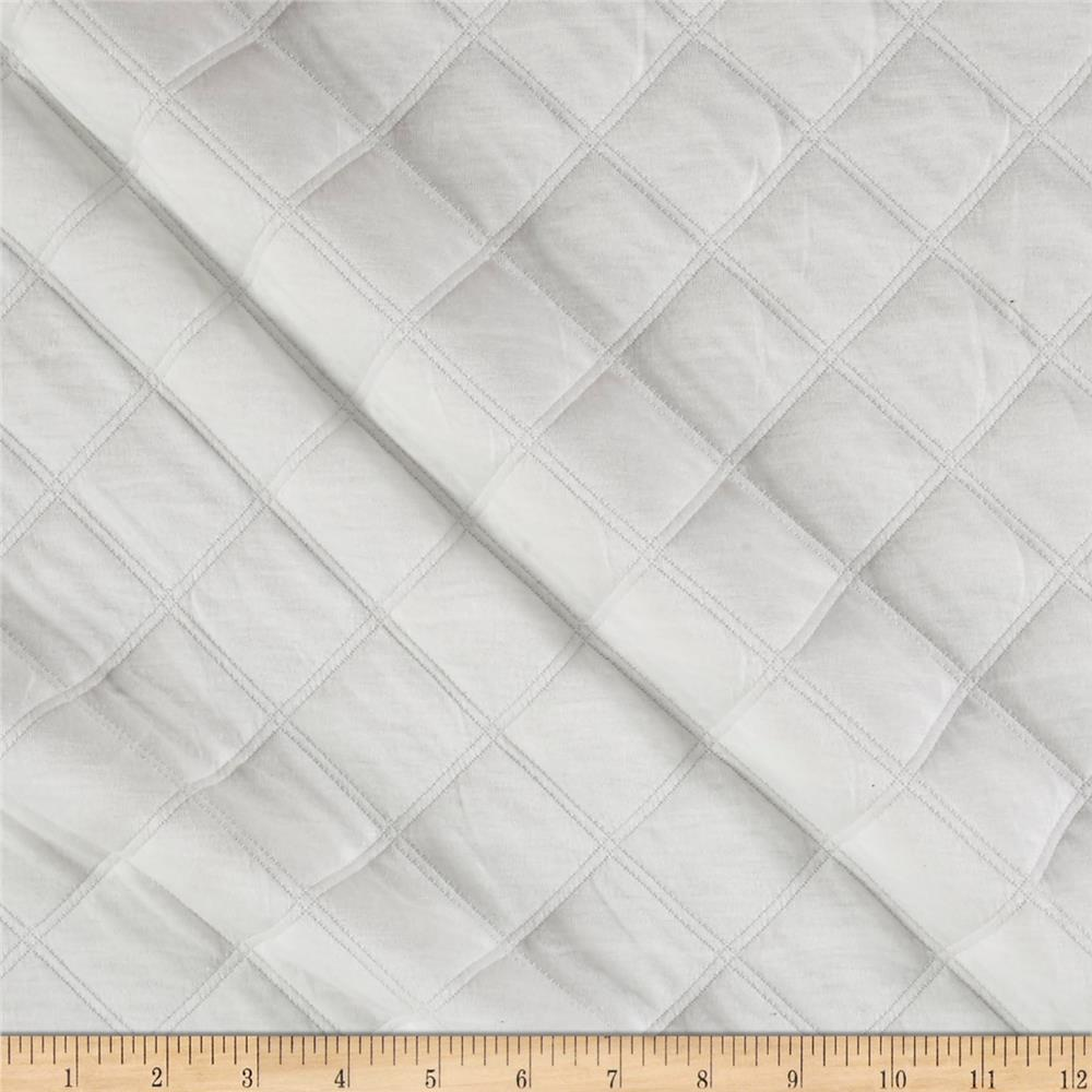 Quilted Double Knit Off White