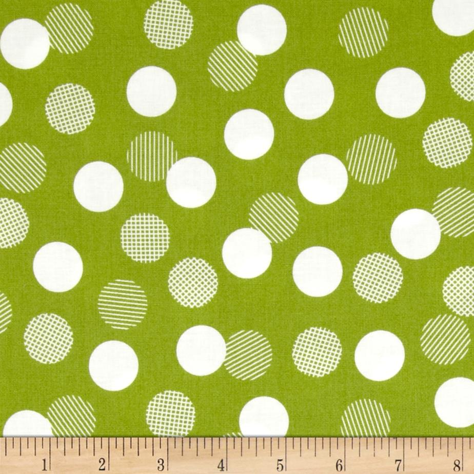 Moda Color Theory Dots Lime