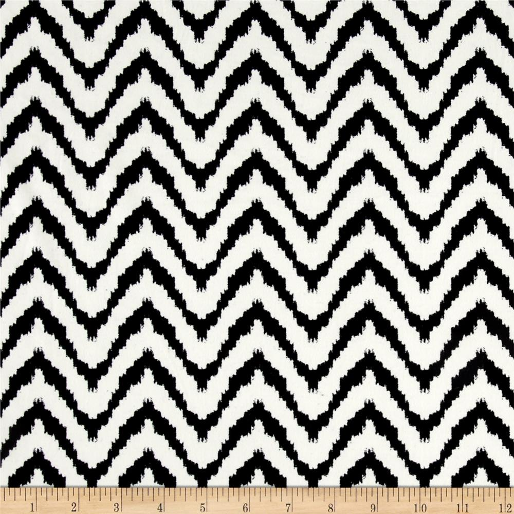 Stretch ITY Knit Chevron Black/Cream