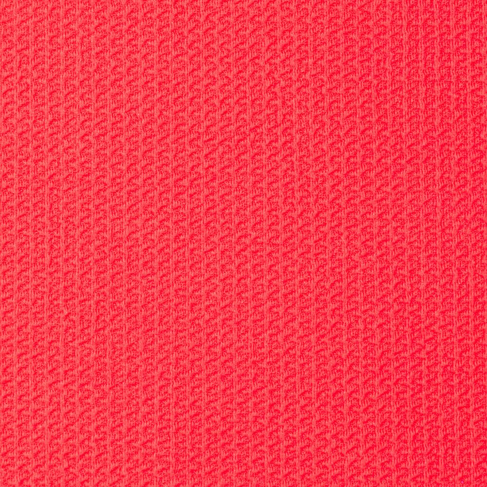 Paola pique knit coral pink discount designer fabric for Textile fabrics