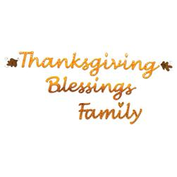 Sizzix Sizzlits Decorative Strip Die Phrase, Thanksgiving