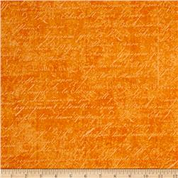 Under a Spell Cursive Texture Orange