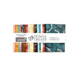 "Timeless Treasures Tonga Batik Citrus 5"" Squares"