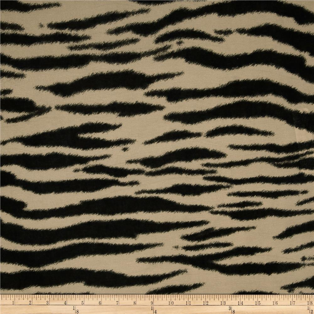 Stretch Tissue Hatchi Knit Zebra Tan/Black