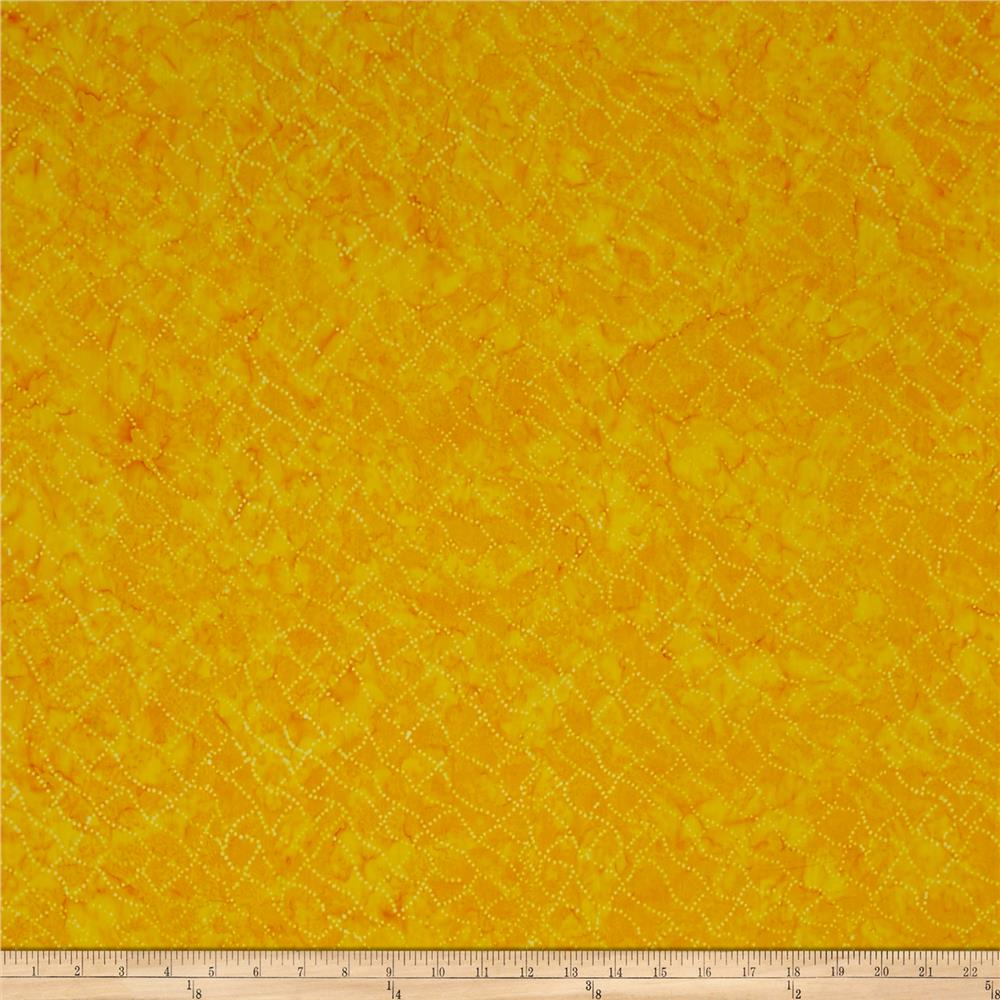 Timeless Treasures Tonga Batik Jelly Bean Dotty Net Citrus