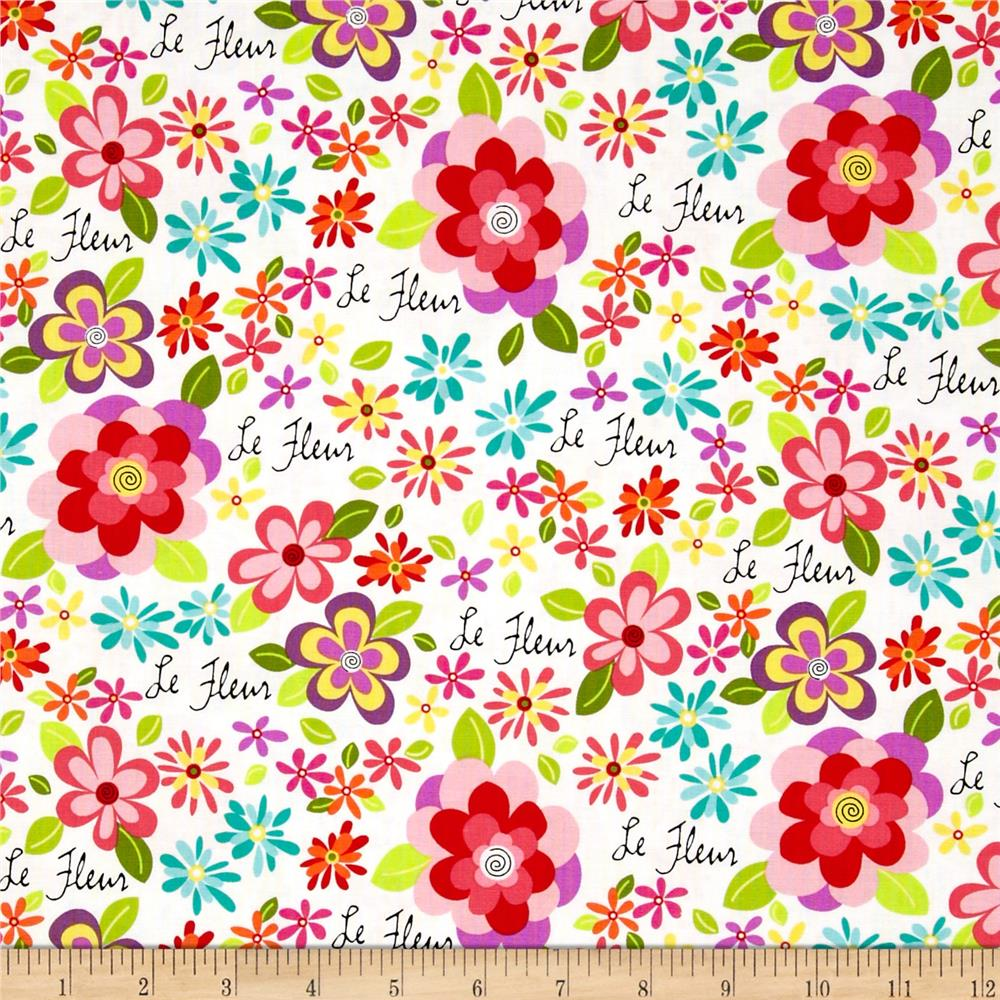 Girly Girl Floral White/Pink