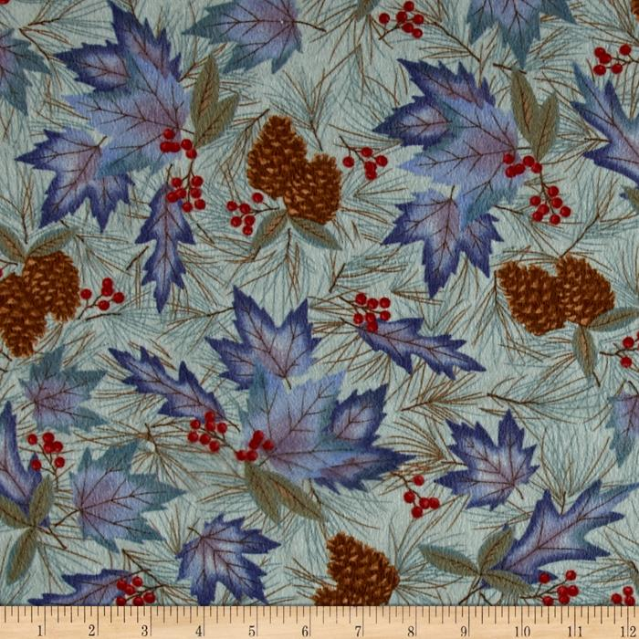 Moda Winter Forest Flannel Forest Pattern Eucalyptus