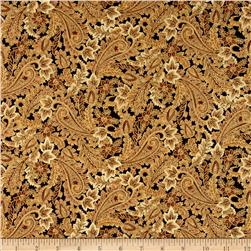 Shades of the Season Metallic Leaf Paisley Harvest Brown