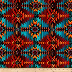 Timeless Treasures Out West Southwest Blanket Turq