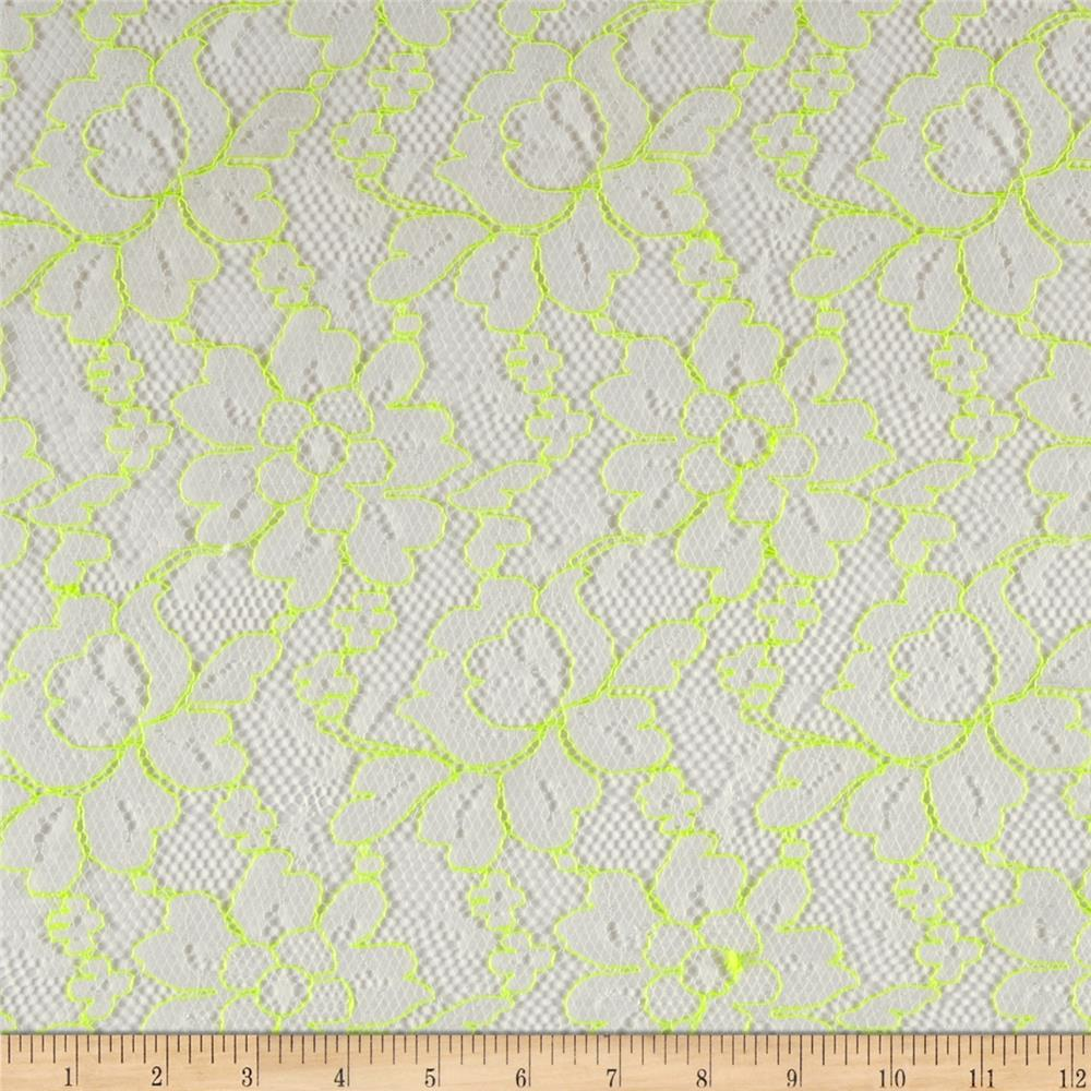 Mod Lace White/Neon Yellow