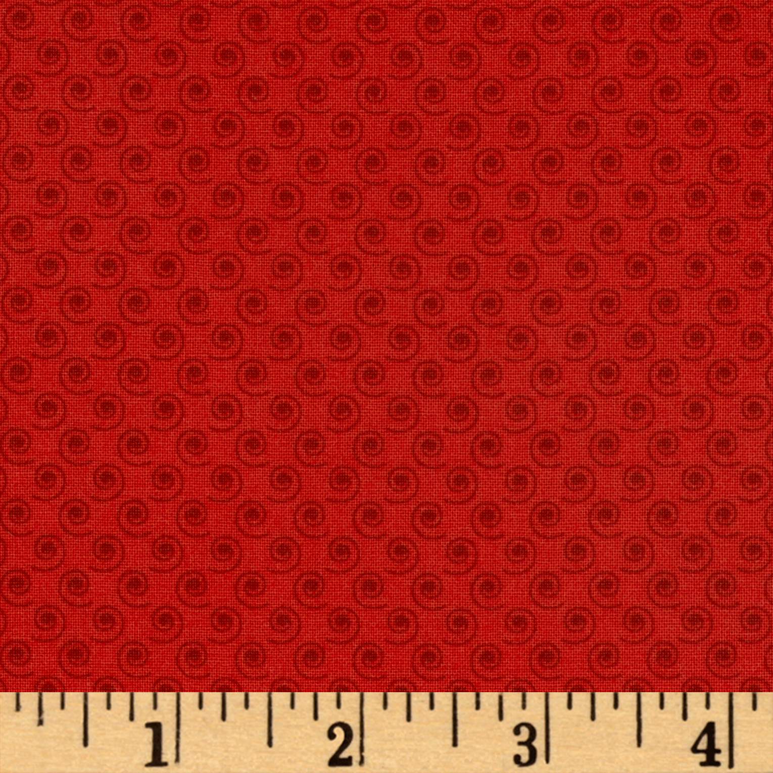 Quilt Camp Small Swirl Red Fabric by Henry Glass in USA