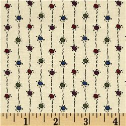 Downton Abbey Lady Mary String Dots Tan Fabric