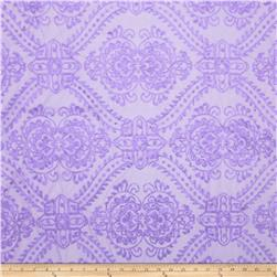 Starlight Sequined Mesh Damask Purple