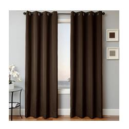 Sunbrella 84'' Solid Grommet Outdoor Panel Bay Brown