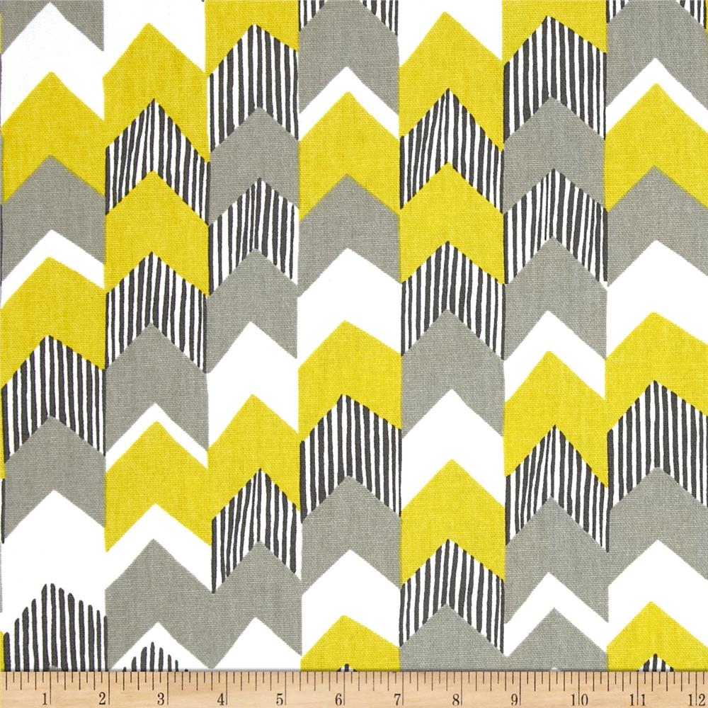 Richloom Nino Chevron Lemongrass