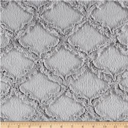 Minky Lattice Soft Cuddle Silver