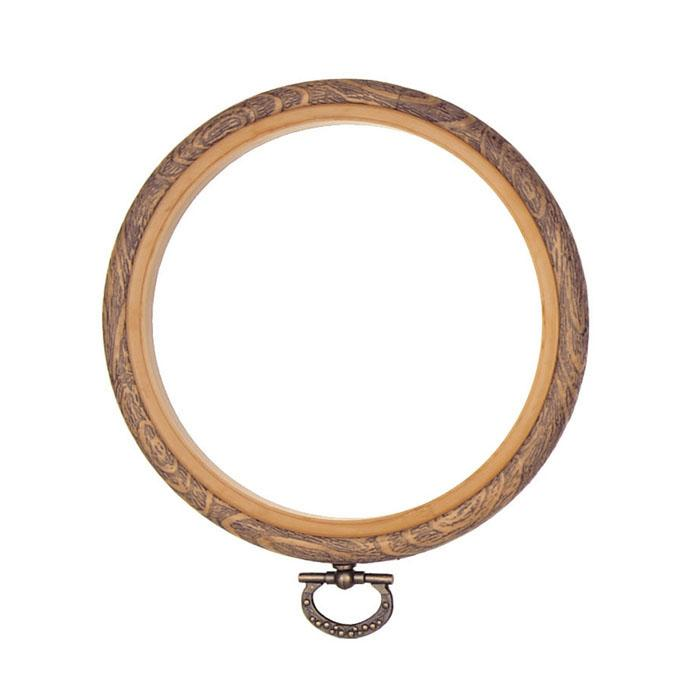 "Westex 7"" Wood Grain Flex Circular Embroidery Hoop"