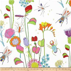 The Tropix Bugs and Flowers Natural Fabric