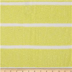 Designer Sweater Knit Stripes Yellow/White Fabric