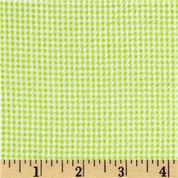 Cotton Seersucker Check Lime/White