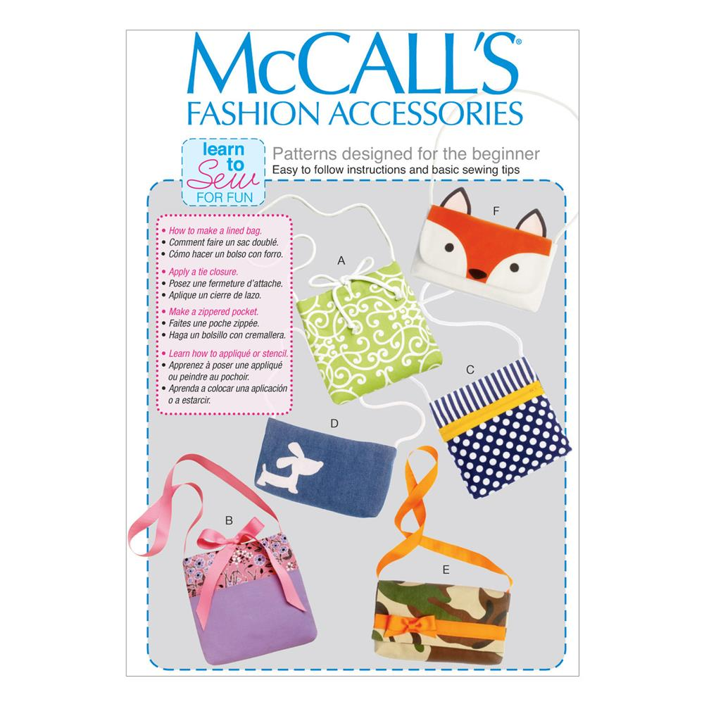 McCall's Bags Pattern M6997 Size OSZ