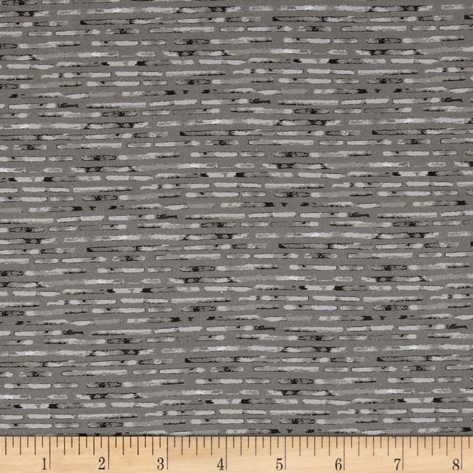 Kaufman Microlife Textures Digital Prints Hash Stripe Grey