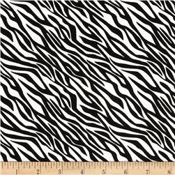 Black & Tan Zebra Black/White Fabric