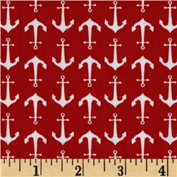 Riley Blake Holiday Banners Anchors Red