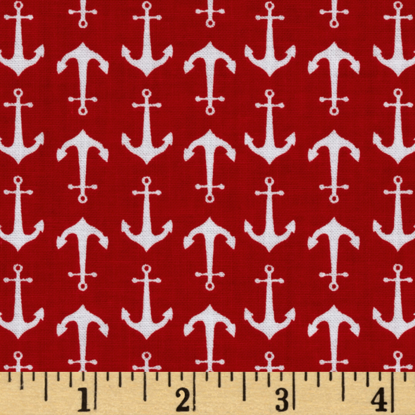 Riley Blake Anchors Red Fabric by Christensen in USA