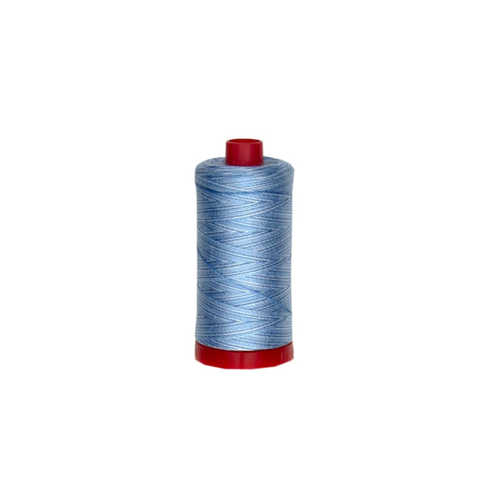 Aurifil 12wt Variegated Embellishment and Sashiko Dreams Thread Stonewashed Denim