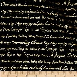 Season's Greetings Words Black
